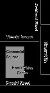 Ham's Vision Centre location